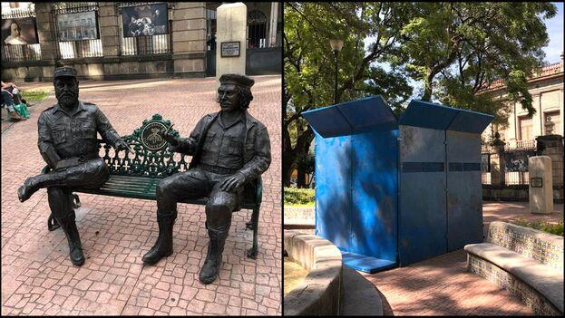 Las estatuas fueron ubicadas por primera vez el 2 de diciembre de 2017 detrás del Museo Nacional de San Carlos. (El Universal)