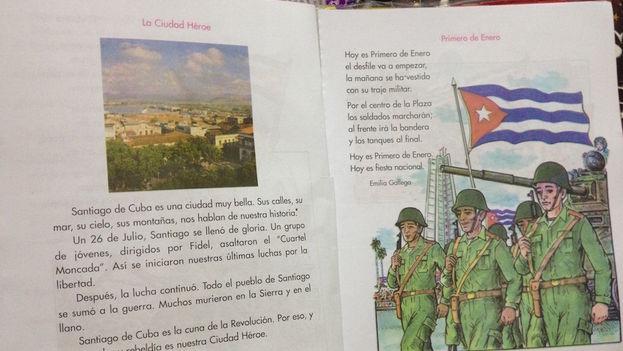 Páginas del libro de primer grado. (Lilianne Ruiz)