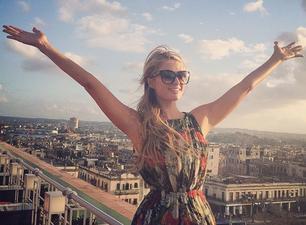 Paris Hilton en La Habana en una foto publicada en su perfil Instagram.