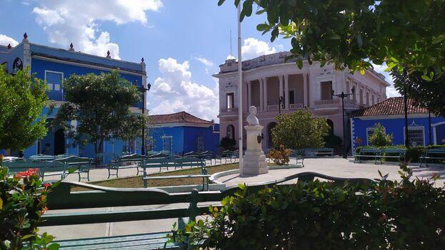 Parque Serafín Sánchez, de Sancti Spíritus, este viernes. (14ymedio)
