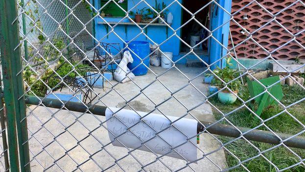 Pizería privada Lorent en La Timba, cerrada por la falta de harina y ahora en reparaciones. (14ymedio)