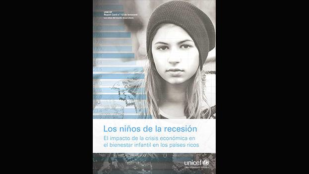 Portada del informe de Unicef sobre el impacto de la recesión en los niños de países ricos