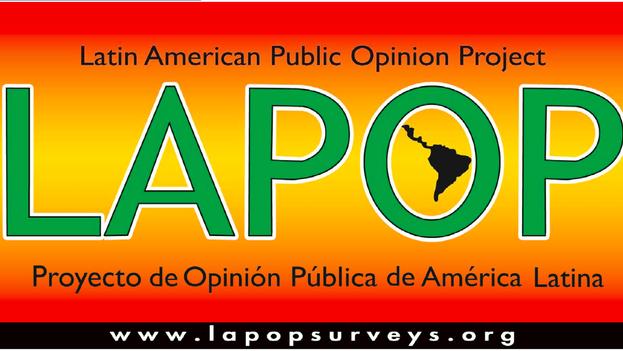 Portada de la presentación del barómetro de las Américas 2014
