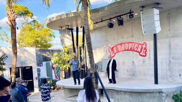 Portuondo ha tratado de recrear en lo posible los jardines cubanos. (Facebook La Tropical)