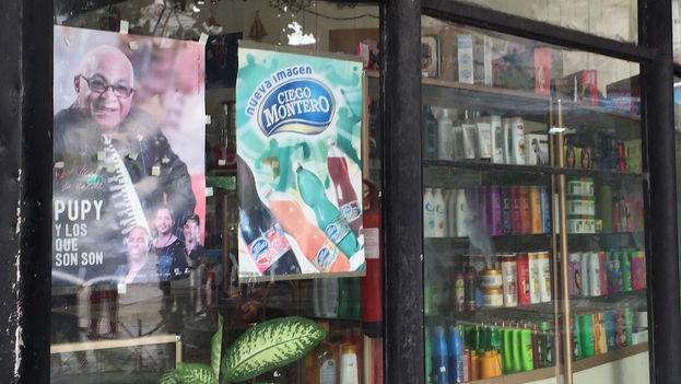 Promocion de refrescos de la línea Ciego Montero. (Luz Escobar/14ymedio)