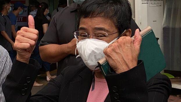 """Ressa ha expuesto """"el abuso de poder, el uso de la violencia y el creciente autoritarismo"""" en Filipinas. (EFE)"""