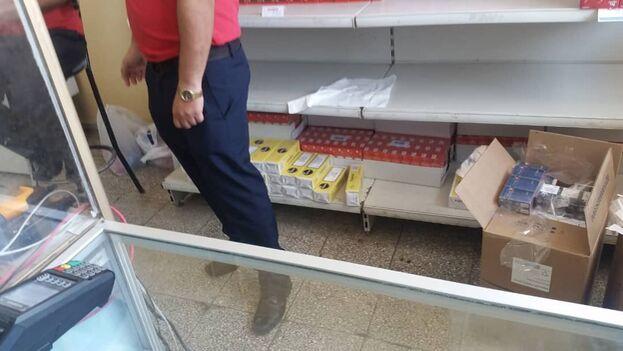 Tabaco en la tienda en divisas de Nuevitas La Alameda. (14ymedio)