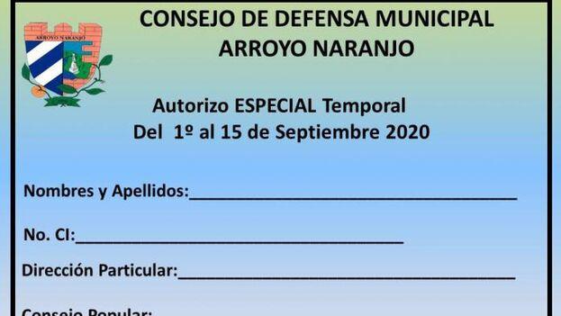 Tarjeta de Uso Temporal para aquellas personas que residan en el municipio y por diversas razones no tengan el carné de identidad actualizado con dirección del territorio. (Tribuna de La Habana)
