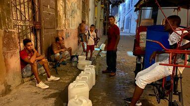 Sin agua en La Habana