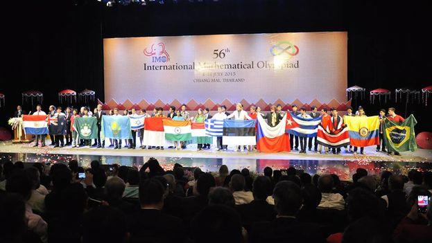 La ceremonia de clausura de la Olimpiada Internacional de Matemáticas. (IMO 2015)