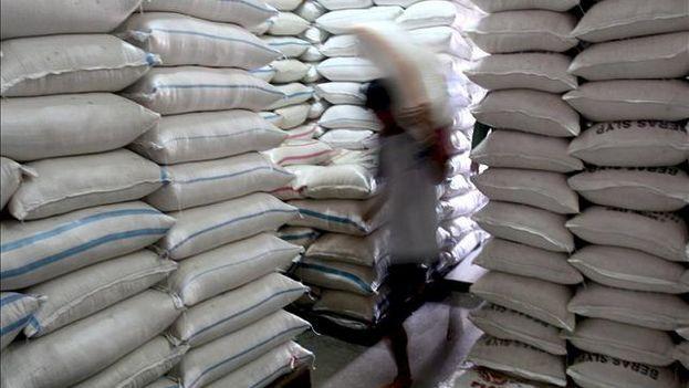 A inicios de este año una libra de arroz podía comprarse en los mercados liberados por 5 CUP y ahora llega a 50 en las redes informales. (EFE)