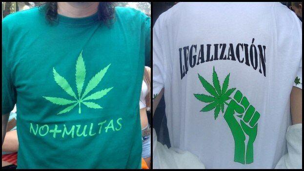 """El decreto considera que llevar artículos con símbolos que aludan a la marihuana supone """"incitación"""", """"estímulo"""" o """"propaganda"""" de su consumo. (Collage/14ymedio)"""