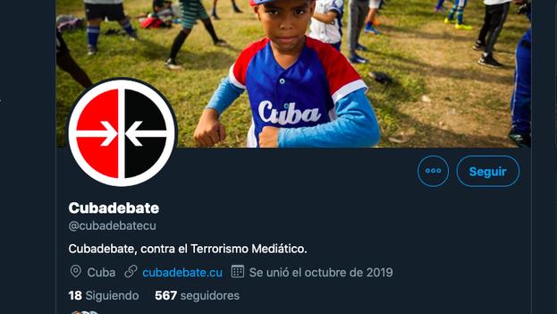 La cuenta nueva de 'Cubadebate' aún tiene muy pocos seguidores