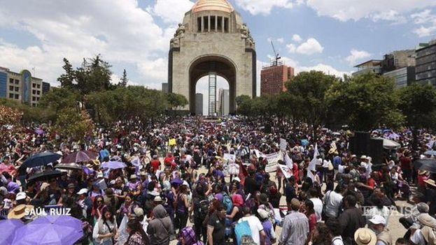 La marcha culminó con un discurso en el que pidieron, entre otras, el fin del favoritismo de los hombres en el sistema judicial o mayores oportunidades de trabajo. (Twitter)