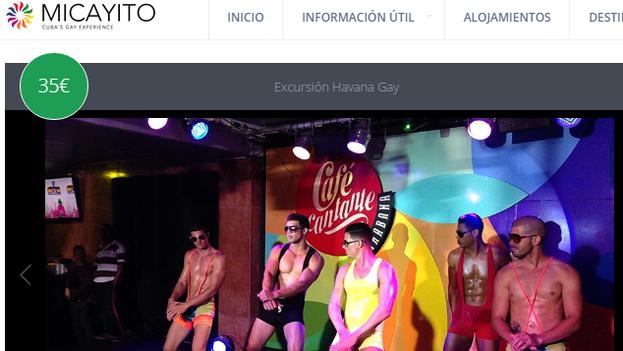 Una excursión ofrecida en la web Mi Cayito.