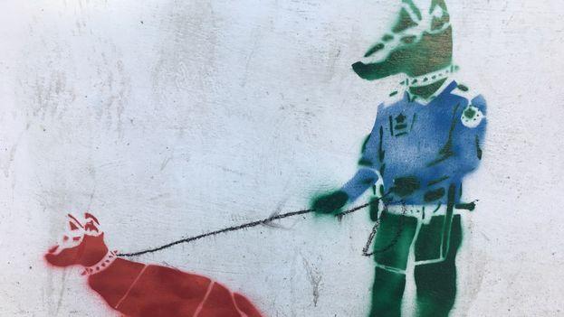 El grafiti ha aparecido en los últimos días en varios edificios de la capital. (14ymedio)