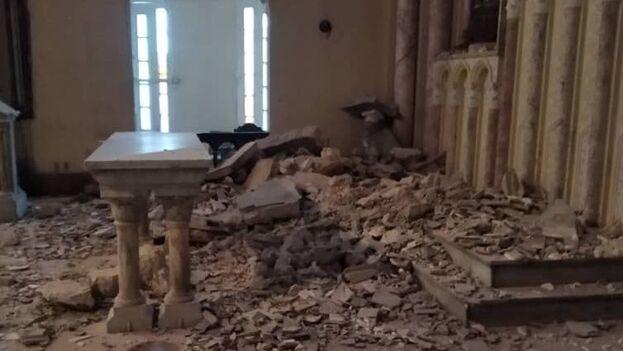 No hubo que lamentar víctimas porque en el momento del derrumbe no había nadie en la capilla de La Inmaculada. (Cortesía)
