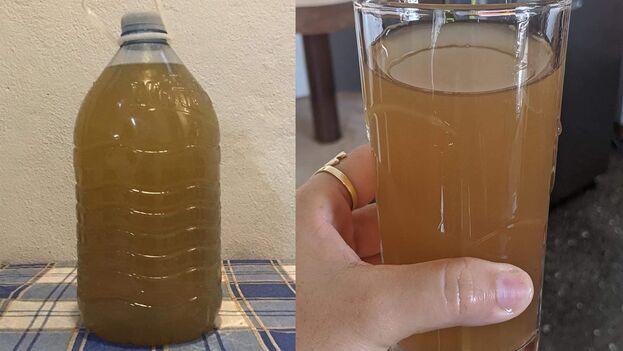 Así luce el agua potable de Cienfuegos estos días. (14ymedio)