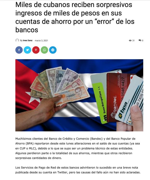 Otra de las notas robadas a '14ymedio' por Cubacute.