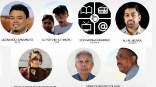 Los candidatos anunciados por la organización que premia anualmente a periodistas y medios comprometidos con la libertad de prensa. (RSF)