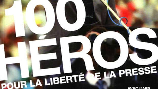 La portada de '100 héroes', de RSF y AFP.
