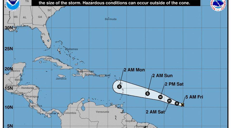 Beryl se convierte en primer huracán del Atlántico rumbo a