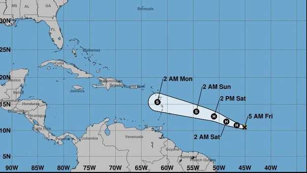 Las previsiones de la agencia estadounidense con vistas a la temporada apuntan a la formación de 10 a 16 tormentas tropicales. (NOAA)