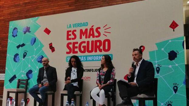 La campaña se compone de cuatro vídeos que reproducen las historias de diferentes migrantes que sufren el engaño de traficantes de personas. (@CINUmexico)